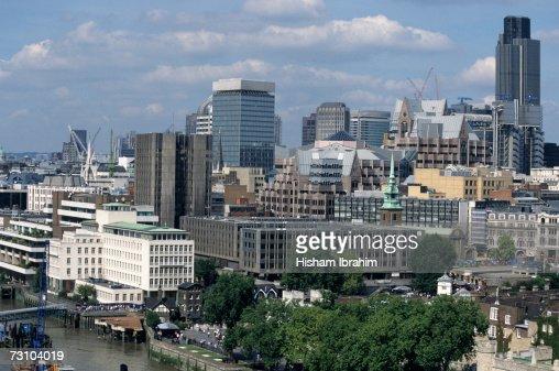 England, London, financial district