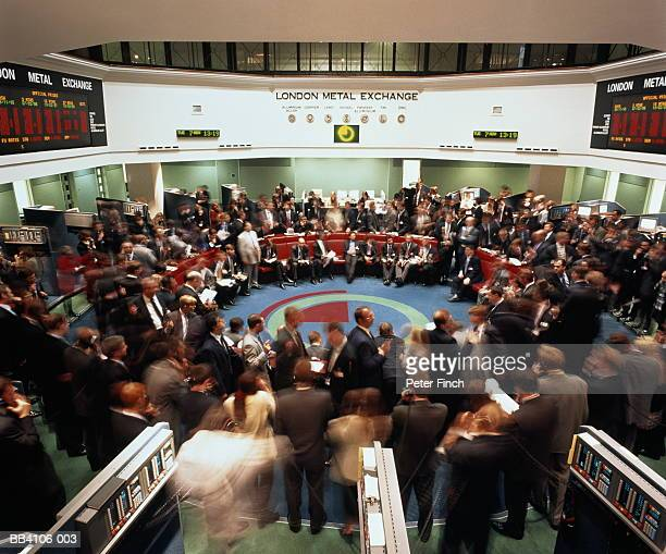 England, London Metal Exchange, view over 'The Ring' trading floor
