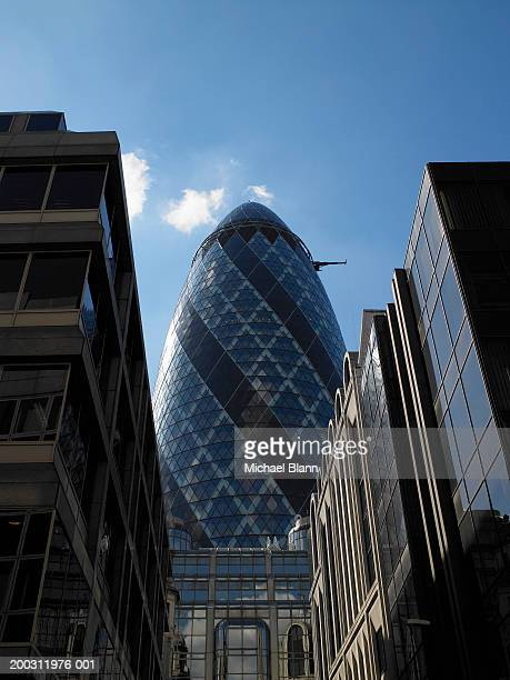 England, London, Sir Norman Foster Building behind office block