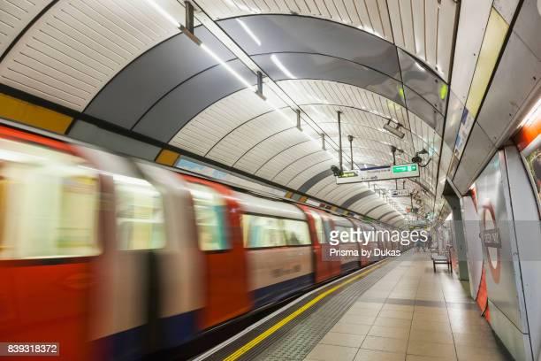 England London Subway Station and Train