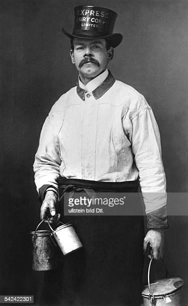 England Londoner Milchmann mit Milchgefässen 1901