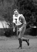 England manager Don Revie during a training session in North London prior to England's friendly International against Holland at Wembley 7th February...