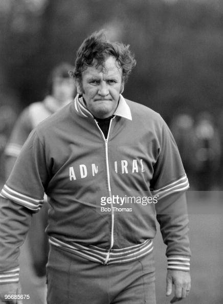 England manager Don Revie during a training session in North London prior to England's World Cup Qualifying match against Luxembourg at Wembley 28th...