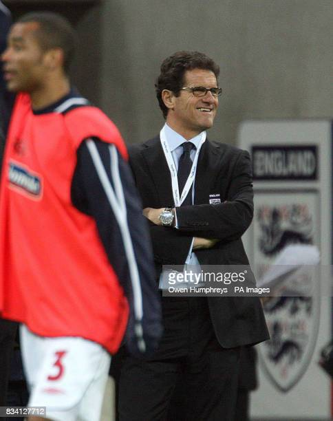 England manager Fabio Capello ahead of the International Friendly match at Wembley Stadium London