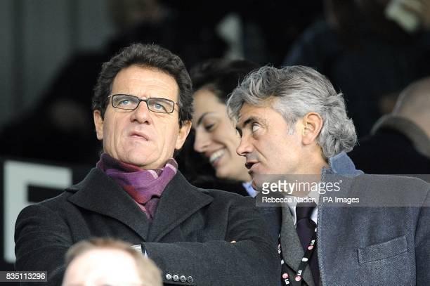 England manager Fabio Capello and general manager Franco Baldini