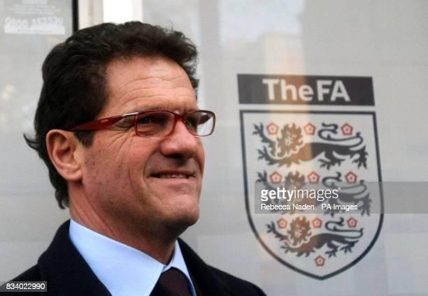 England manager Fabio Capello arrives at the FA Headquarters in Soho Square London
