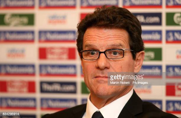 England manager Fabio Capello during a Press Conference at Four Seasons Hotel Paris France