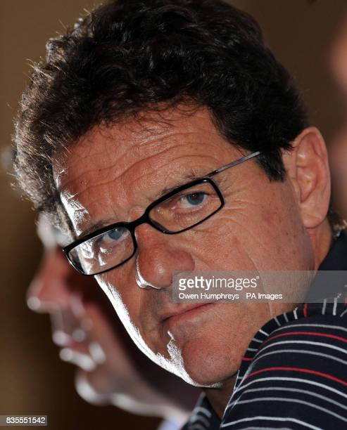 England manager Fabio Capello during a press conference at The Intercontinental Hotel Almaty Kazakhstan