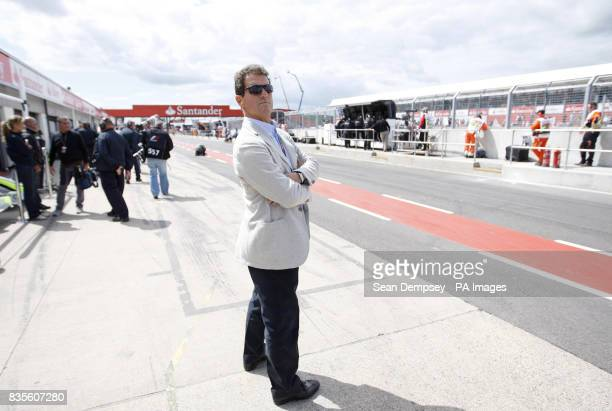 England manager Fabio Capello during the practice session at Silverstone Northamptonshire