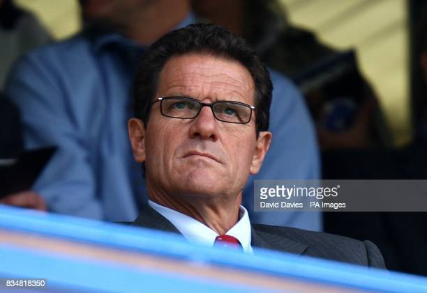 England manager Fabio Capello in the stands