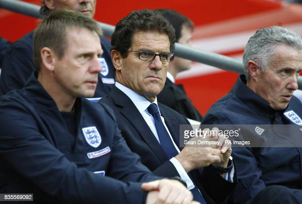 England manager Fabio Capello on the touchline prior to kick off