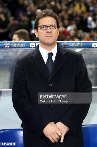 England manager Fabio Capello prior to kick off