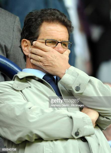 England manager Fabio Capello watches during the Barclays Premier League match at White Hart Lane London