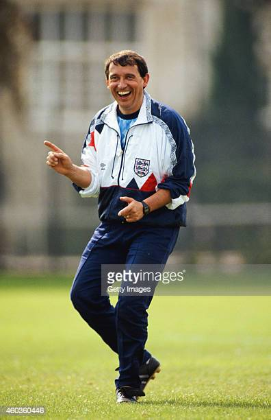 England manager Graham Taylor in joyfull mood ahead of his first match in charge of England in September 1990