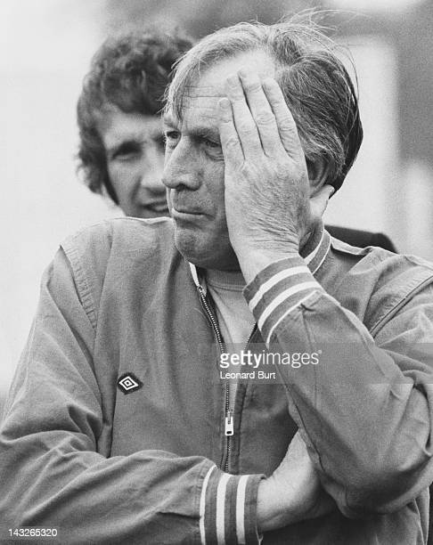 England manager Joe Mercer at his first training session with the national team at Roehampton 10th May 1974
