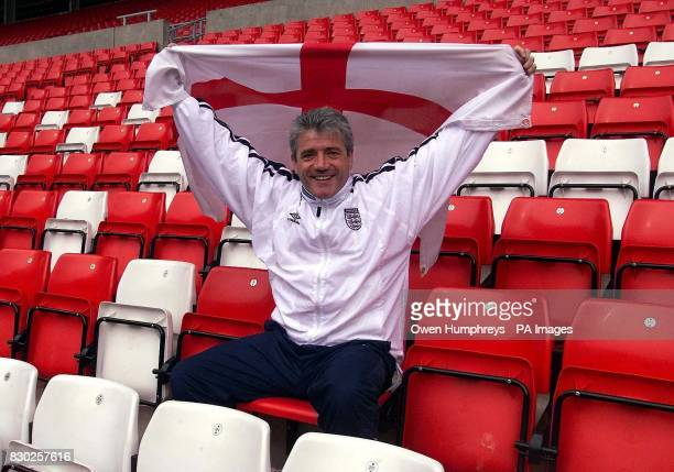 England manager Kevin Keegan raises the flag at the Stadium of Light Sunderland Keegan named his squad to face Belgium in a friendly at the Stadium...