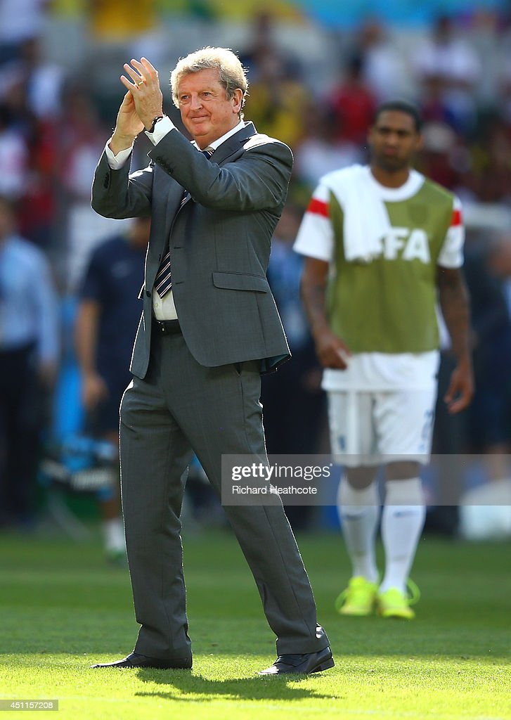 England manager Roy Hodgson acknowledges the fans after a 0-0 draw during the 2014 FIFA World Cup Brazil Group D match between Costa Rica and England at Estadio Mineirao on June 24, 2014 in Belo Horizonte, Brazil.