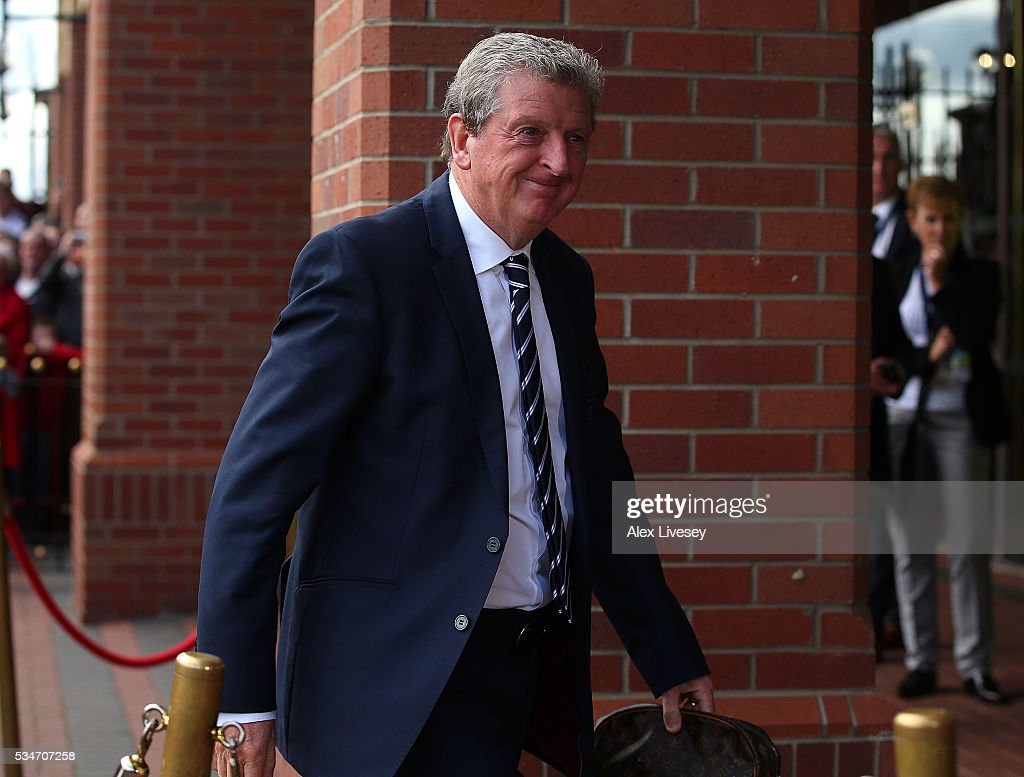 England manager <a gi-track='captionPersonalityLinkClicked' href=/galleries/search?phrase=Roy+Hodgson&family=editorial&specificpeople=881703 ng-click='$event.stopPropagation()'>Roy Hodgson</a> arrives at the ground ahead of the International Friendly match between England and Australia at Stadium of Light on May 27, 2016 in Sunderland, England.