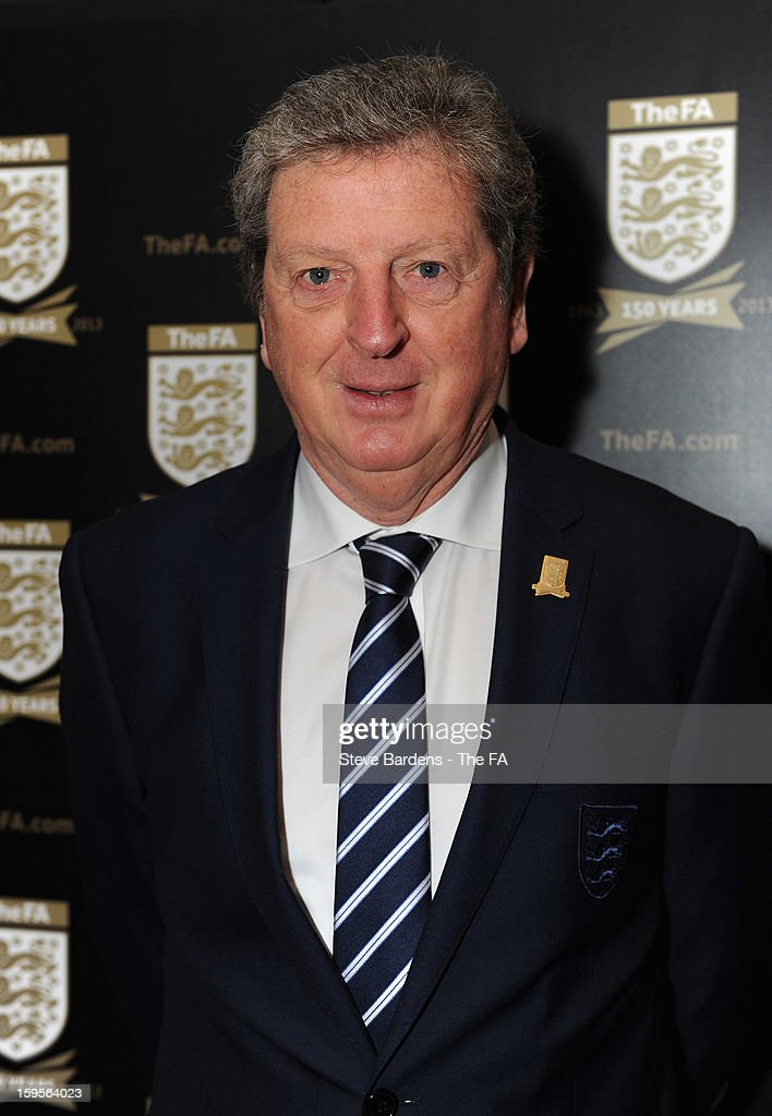 England manager <a gi-track='captionPersonalityLinkClicked' href=/galleries/search?phrase=Roy+Hodgson&family=editorial&specificpeople=881703 ng-click='$event.stopPropagation()'>Roy Hodgson</a> attends the official launch to mark the FA's 150th Anniversary Year at the Grand Connaught Rooms on January 16, 2013 in London, England.