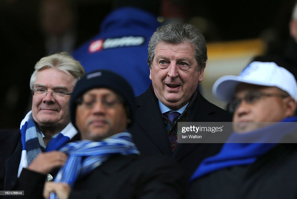 England manager Roy Hodgson during the Barclays Premier League match between Queens Park Rangers and Manchester United at Loftus Road on February 23, 2013 in London, England.