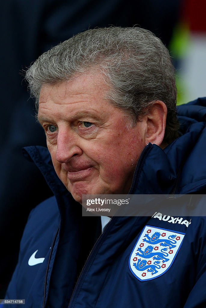 England manager <a gi-track='captionPersonalityLinkClicked' href=/galleries/search?phrase=Roy+Hodgson&family=editorial&specificpeople=881703 ng-click='$event.stopPropagation()'>Roy Hodgson</a> looks on ahead of the International Friendly match between England and Australia at Stadium of Light on May 27, 2016 in Sunderland, England.