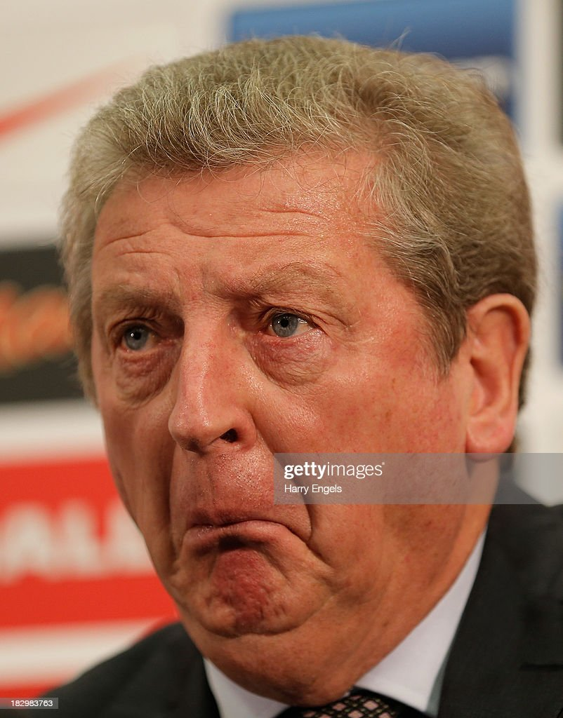 England manager Roy Hodgson speaks during a press conference following the announcement of the England U21 and Senior squads at Wembley Stadium on October 3, 2013 in London, England.