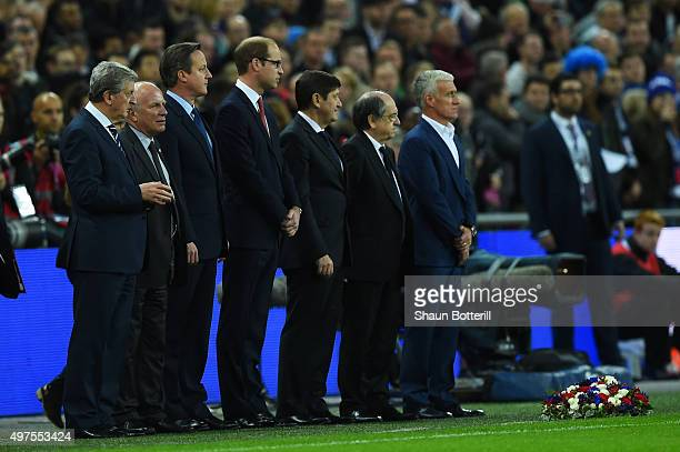 England manager Roy Hodgson The Football Association chairman Greg Dyke British Prime Minister David Cameron Prince William The Duke of Cambridge and...