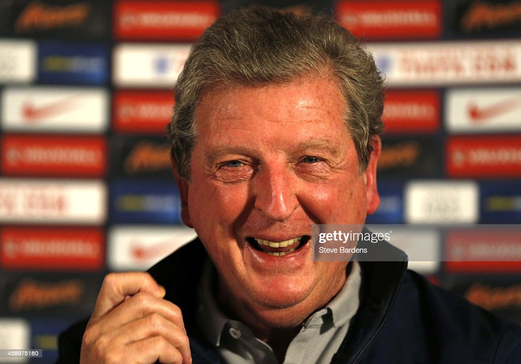 England Manager Roy Hodson talks to the media during a press conference at The Grove Hotel on November 14, 2014 in Hertford, United Kingdom.