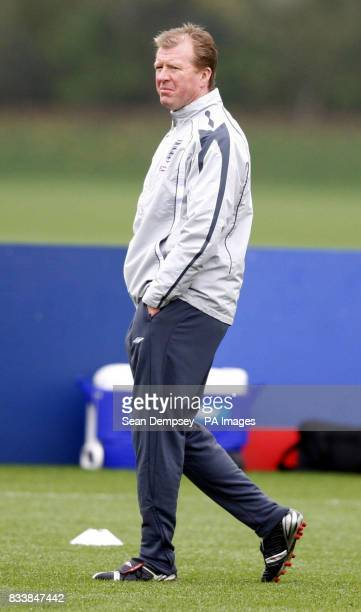 England manager Steve McClaren during a training session at London Colney Hertfordshire Picture date Tuesday October 9 2007 See PA story SOCCER...