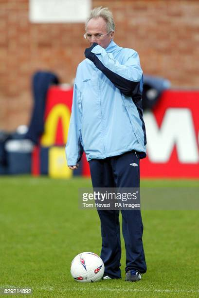 England manager Sven GoranEriksen during a training session at the Southampton Training Ground ahead of his teams 2004 European Championship...