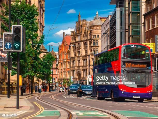 England, Manchester, bus at Princess Street