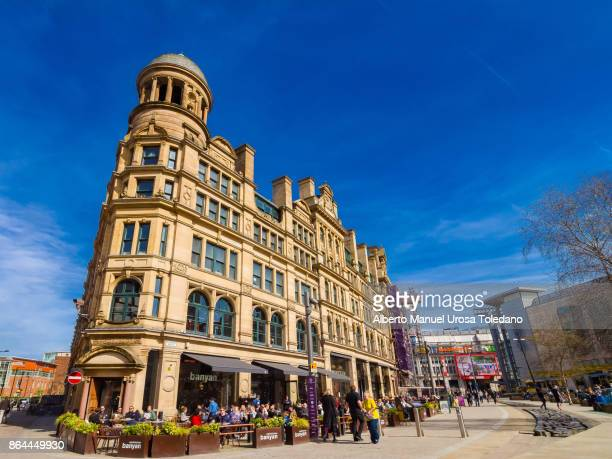 England, Manchester, Corn Exchange building.in Shambles square
