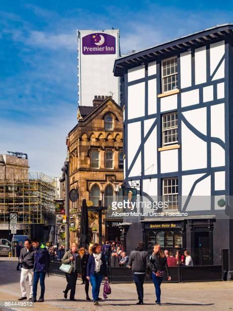England, Manchester, pub at Shambles square