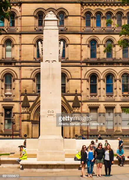 England, Manchester, St Peters Square and Cenotaph