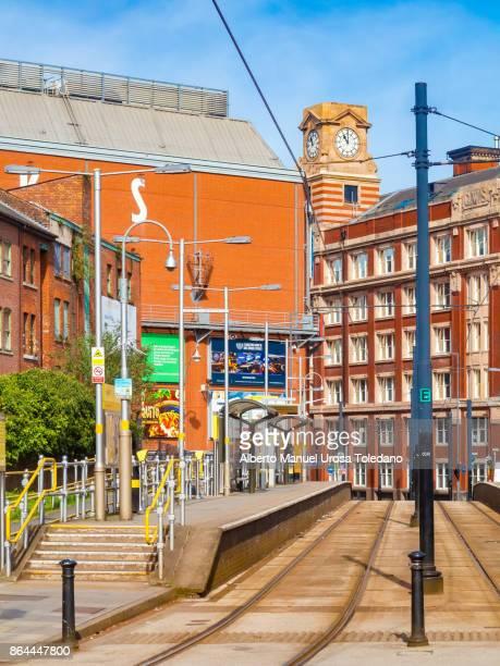 England, Manchester, tram at Shudehill station