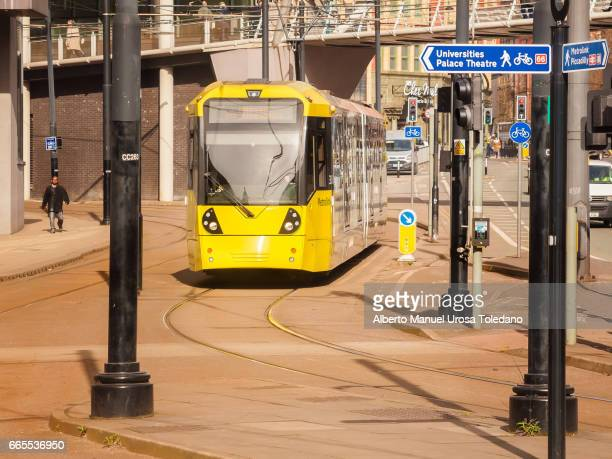 England, Manchester, tramway tracks