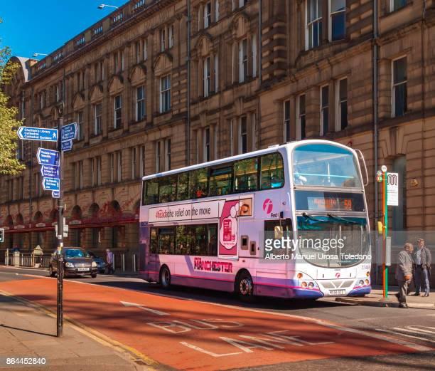 England, Manchester, Victoria train station, Bus
