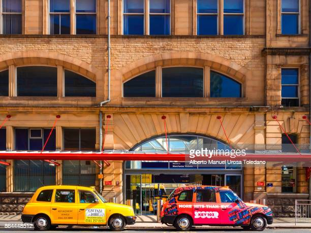 England, Manchester, Victoria train station, Cabs