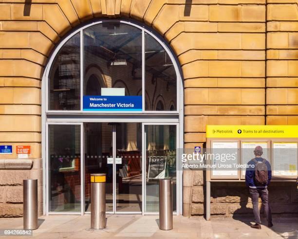 England, Manchester, Victoria train station, Entrance
