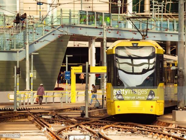 England, Manchester, Victoria train station, Tram