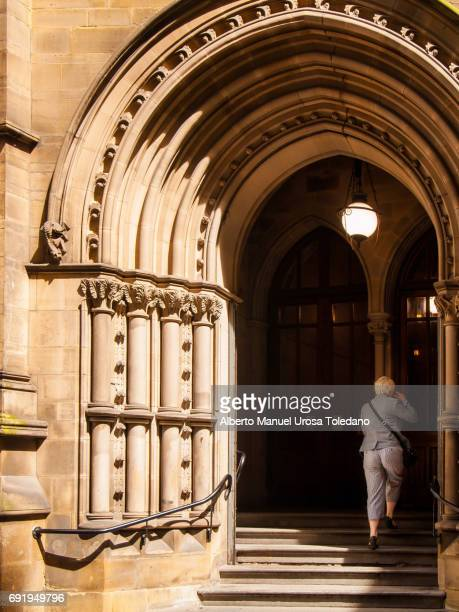 England, Manchester,Town hall, Entrance