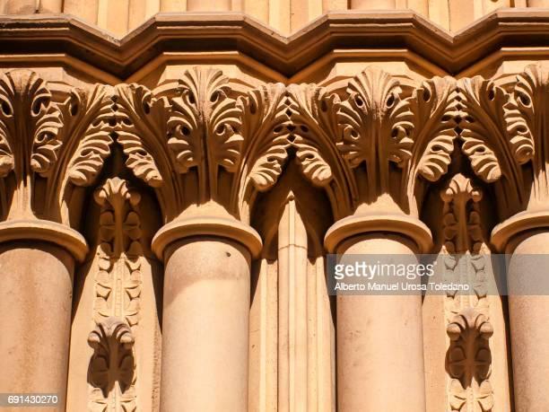 England, Manchester,Town hall, Pillars