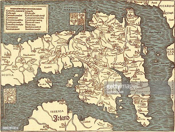 England map in Ptolemy s Geographia Universalis 1540