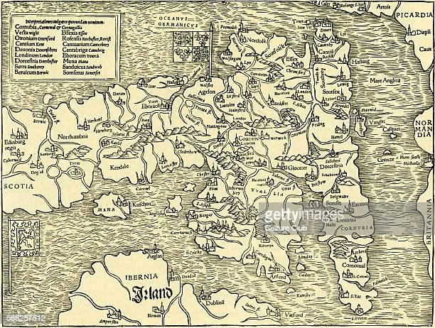 England map in Ptolemy s Geographia Universalis Vetus et Nova complectens 1540