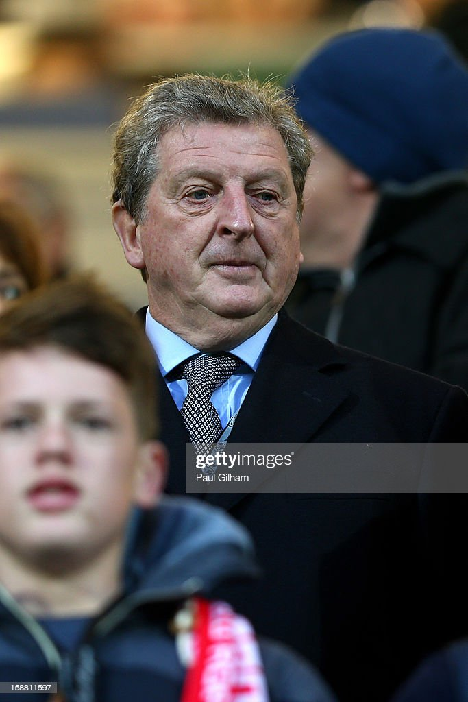 England national coach Roy Hodgson attends during the Barclays Premier League match between Queens Park Rangers and Liverpool at Loftus Road on December 30, 2012 in London, England.