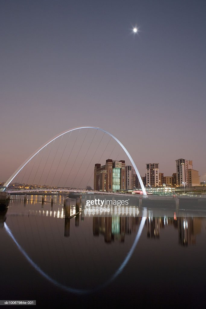 England, Northumberland, Newcastle, Millennium Footbridge : Stock Photo