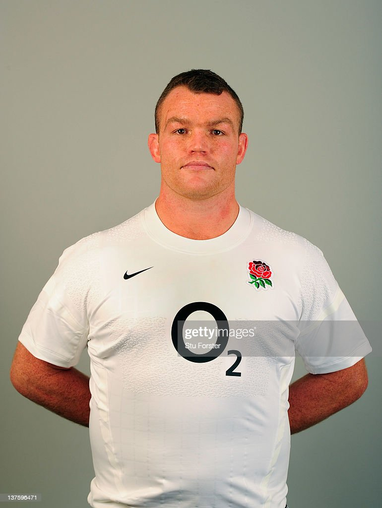 England player <a gi-track='captionPersonalityLinkClicked' href=/galleries/search?phrase=Matt+Stevens&family=editorial&specificpeople=209047 ng-click='$event.stopPropagation()'>Matt Stevens</a> during the England Rugby Union Headshots shoot at Weetwood Hall on January 23, 2012 in Leeds, England.