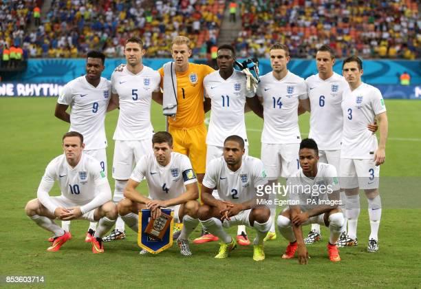 England players Daniel Sturridge Gary Cahill Joe Hart Danny Welbeck Jordan Henderson Phil Jagielka and Leighton Baines Wayne Rooney Steven Gerrard...