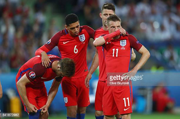 England players react during the UEFA EURO 2016 Group B match between Slovakia and England at Stade GeoffroyGuichard on June 20 2016 in SaintEtienne...