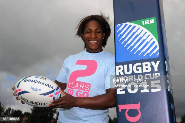 England Rugby 2015 Ambassador Maggie Alphonsi marks the two year countdown to matches of the Rugby World Cup 2015 coming to Birmingham at Twickenham...